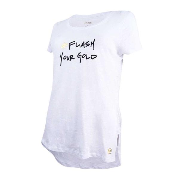 c2b73d9031 Shop MICHAEL Michael Kors Women's 'Flash Your Gold' Graphic T-Shirt ...
