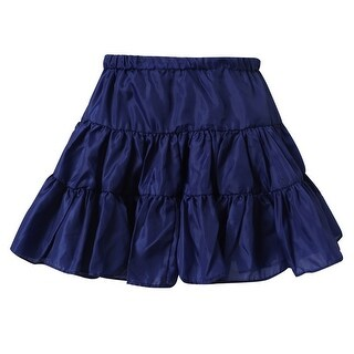 Richie House Little Girls Navy Lightweight Ruffled Skirt 4