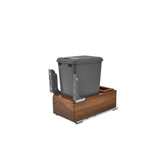 Rev-A-Shelf 4WC-15DM1-SC Bottom Mount Single Bin Trash Can with Full Extension Slides and Soft Close Features - 35 Quart
