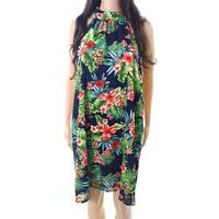 Lush Womens Medium Floral Sleeveless Shift Dress