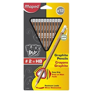 Maped Graphite #2 Triangular Pre-Sharpened Pencil, Pack of 12