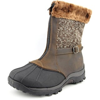 Propet Blizzard Mid Zip Round Toe Synthetic Snow Boot