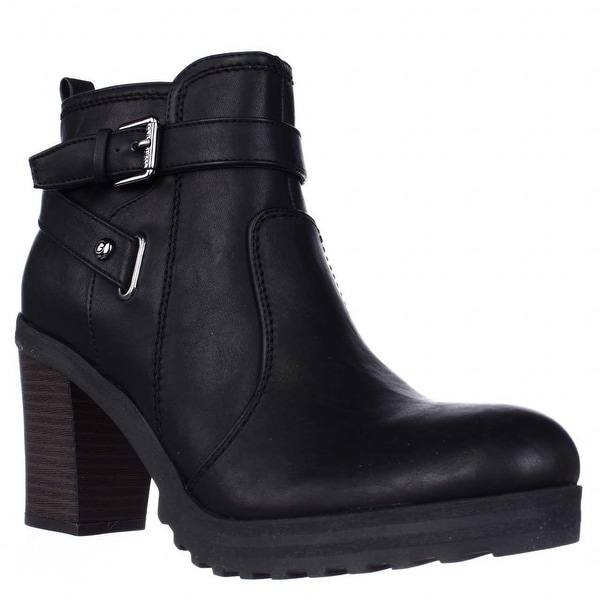 G by GUESS Francy Lug Sole Ankle Boots, Black