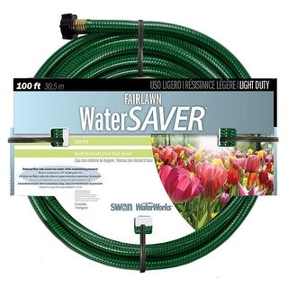 "Swan SNFA12100 Fairlawn Water Saver Garden Hose, 1/2"" x 100'"