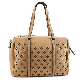 MG Collection Beatriz Cutout Bowling Tote Women  Synthetic Tan Shoulder Bag - Beige