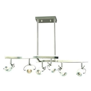 "PLC Lighting 5356 6 Light 32"" Wide Track Lighting from the Focus Collection"