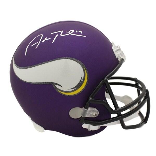 e208e5075e8 Shop Adam Thielen Autographed Minnesota Vikings Replica Helmet JSA ...