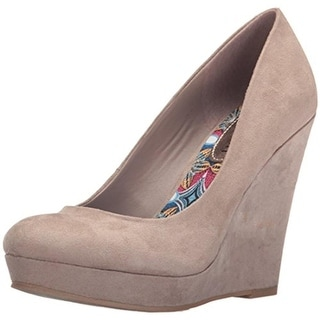 Madden Girl Womens Valia Pumps Faux Suede Wedge