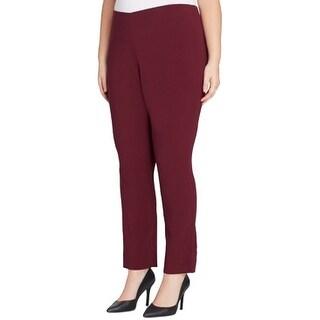 Link to Tahari Womens Dress Pants Red Size 20W Plus Ponte Slim Leg Stretch Similar Items in Pants