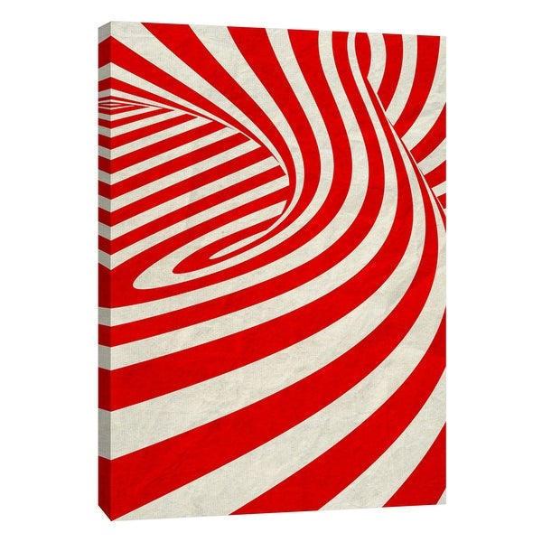 """PTM Images 9-109000 PTM Canvas Collection 10"""" x 8"""" - """"Red Swirls C"""" Giclee Abstract Art Print on Canvas"""