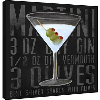 """PTM Images 9-100029  PTM Canvas Collection 12"""" x 12"""" - """"Martini (Square)"""" Giclee Liquor & Cocktails Art Print on Canvas"""