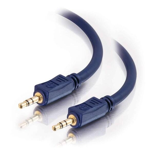 C2G 40604 C2G 25ft Velocity 3.5mm M/M Stereo Audio Cable - Mini-phone Male - Mini-phone Male - 25ft - Blue