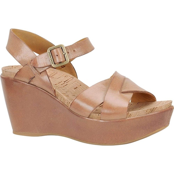 Kork-Ease Womens ava Suede Open Toe Casual Platform Sandals