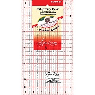"""SewEasy Patchwork Quilt Ruler-12""""X6.5"""""""