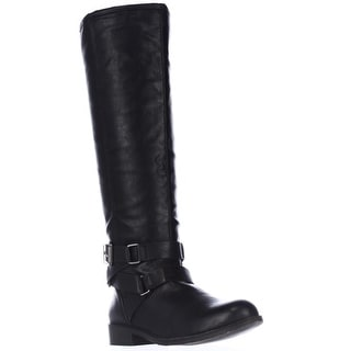 madden girl Corporel Flat Riding Boots, Black