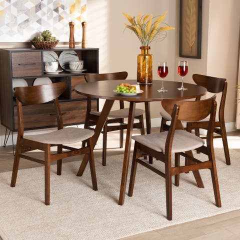 Philip Mid-Century Modern Transitional 5-Piece Dining Set