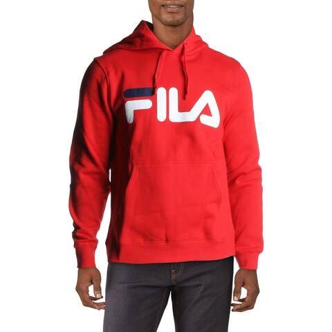 Fila Fiori Men's Fleece Lined Logo Print Lifestyle Hoodie