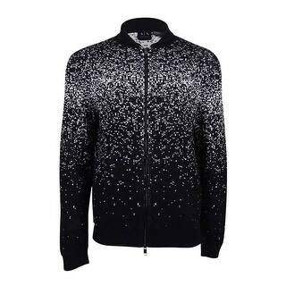 Armani Exchange Men's Knit Zip Cardigan - BLACK/WHITE|https://ak1.ostkcdn.com/images/products/is/images/direct/b2d62e9b3c7afcd3671009f1e1d21d3fbe067b5f/Armani-Exchange-Men%27s-Knit-Zip-Cardigan.jpg?impolicy=medium