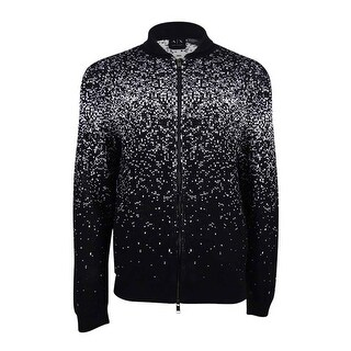 Armani Exchange Men's Knit Zip Cardigan - BLACK/WHITE