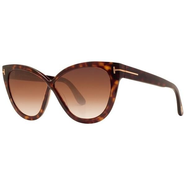 627a7b1b932 Tom Ford Arabella TF 511 52B 59mm Dark Havana Gradient Smoke Cat eye  Sunglasses - dark