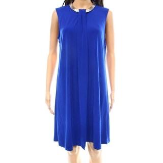 Calvin Klein NEW Blue Royal Women's Size 14 Sheath Chain-Neck Dress