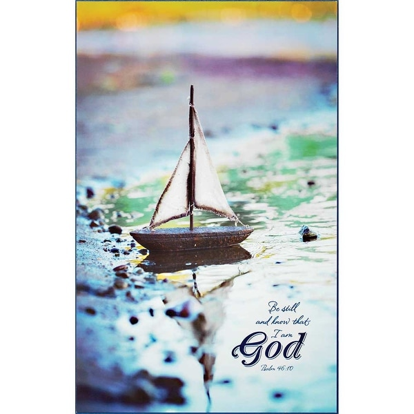 """13.8"""" Blue and Brown """"Be still and know that I am god"""" Rectangular Wall Plaque - N/A"""