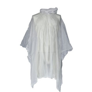 CTM® Adult Reusable Rain Poncho - CLEAR - One size
