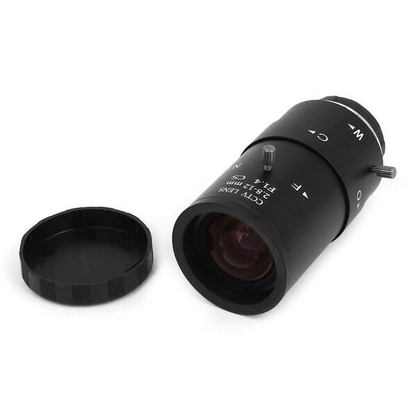 """Unique Bargains 1/3"""" F1.4 Aperture 2.8-12mm Manual Focus Security CCTV Camera IR Lens"""