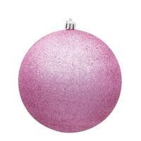 Vickerman  2.75 in. Pink Glitter Christmas Ornament Ball - 12 per Bag