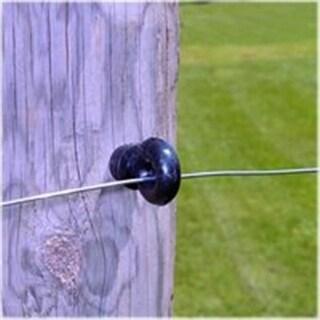 Zareba IWSIRB-Z Wood Post Ring Black Insulator