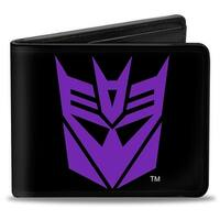 Transformers Decepticon Logo Black Purple Bi Fold Wallet - One Size Fits most