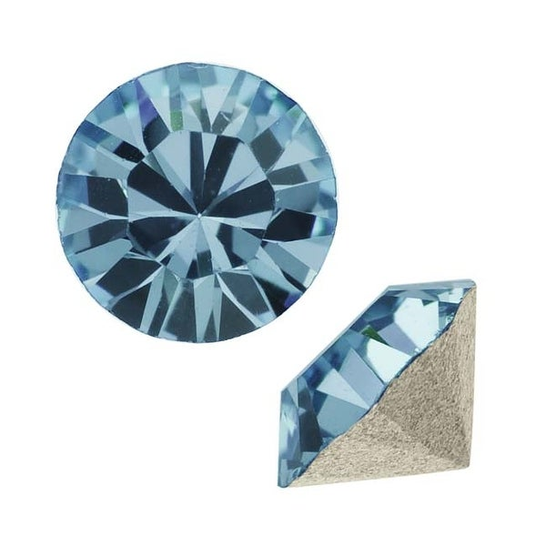 Swarovski Crystal, 1028 Xilion Round Stone Chatons pp10, 50 Pieces, Denim Blue