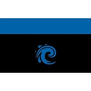 Legion Iconic WATER (BLUE) Playmat (for Magic / MTG, Pokemon Cards)
