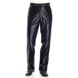Circle S Western Pants Mens Polyester Flap Pockets Black
