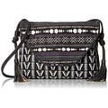 Twig & Arrow Womens Crossbody Handbag Canvas Printed - Black Multi - small - Thumbnail 0