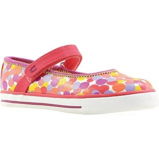 Umi Girls' Hana B Mary Jane Berry Multi Canvas