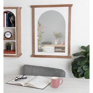 Link to Kate and Laurel Brenna Wood Framed Arch Wall Mirror - 22x28 Similar Items in Safety Gear