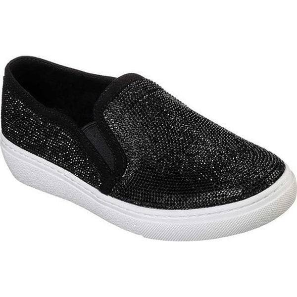 8980a74636ef Shop Skechers Women s Goldie Flashow Slip-On Sneaker Black - On Sale ...