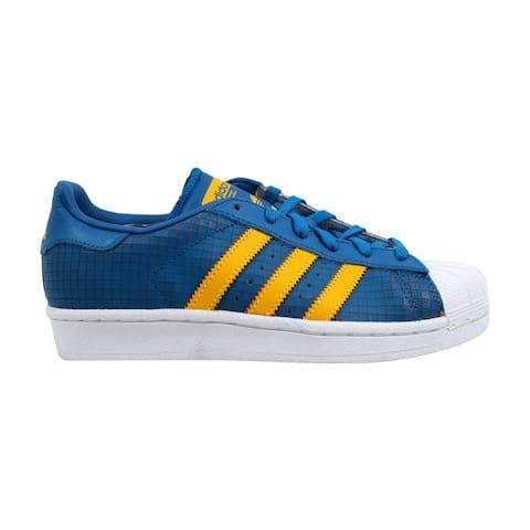 e1154abd83718 Adidas Superstar J Blue Gold-White F37789 Grade-School