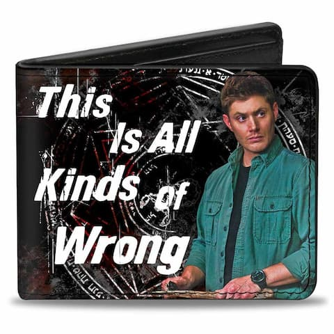 Supernatural This is All Kinds of Wrong Bi-Fold Wallet