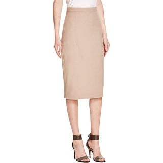 Theory Womens Pencil Skirt Pleated Slit