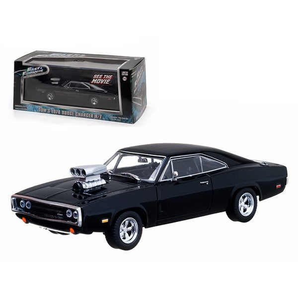 Dom\'s 1970 Dodge Charger Black The Fast and The Furious Movie (2001) 1/43 Diecast Car Model by Greenlight