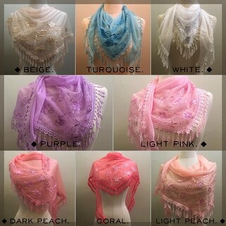 Link to Embroidered Georgette Accent Scarf Similar Items in Scarves & Wraps