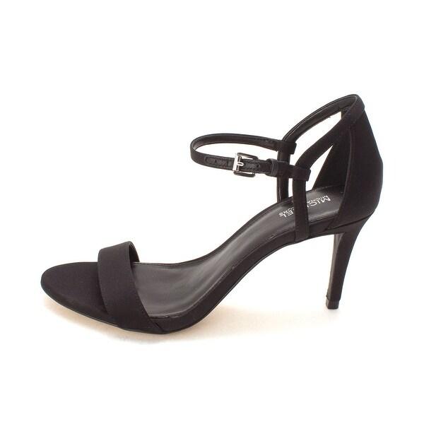 Michael Kors Womens simone mid sandal Suede Open Toe Ankle Strap Classic Pumps - 7
