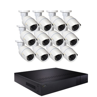 Q-See 16 Channel IP Security System with 12-4MP H.265 IP Cameras, Pre-installed 3TB Hard Drive