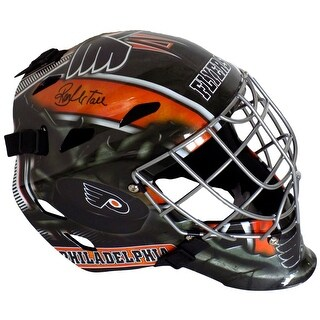 Ron Hextall Signed Philadelphia Flyers Full Size Goalie Mask SI