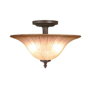 Woodbridge Lighting 38003 Broadmore 2 Light Bordeaux Semi Flush Mount