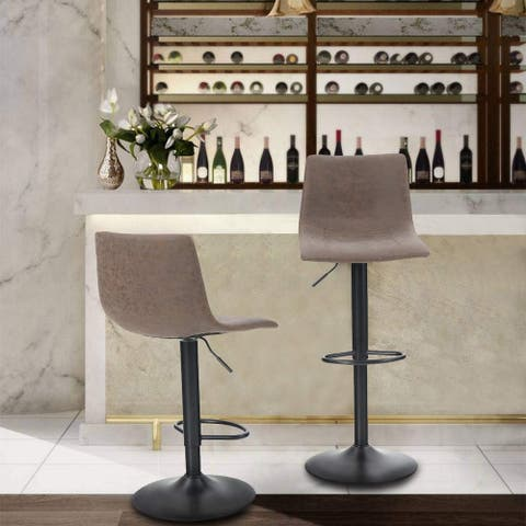 ALPHA HOME Height Adjustable Swivel Dining Chairs Set of 2