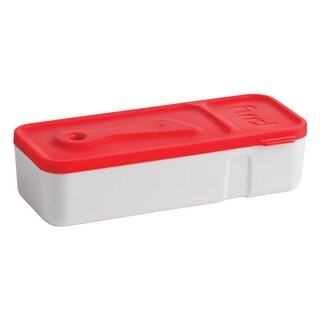 Trudeau 34408336 On The Go Snack'n Dip, Red/White, 7-1/2 Oz