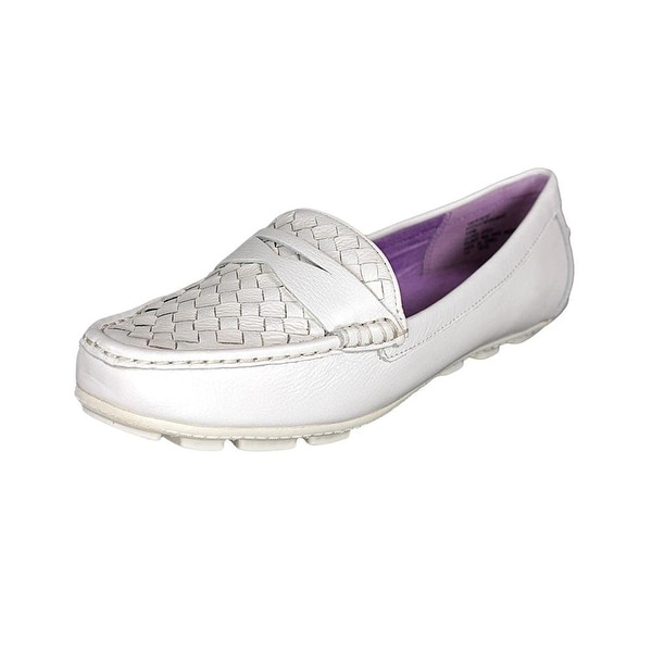 White Mountain Womens SPEEDBOAT Leather Boat Shoes